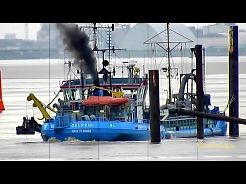 Hegemann 3 PDAQ IMO 7739662 Trailing Suction Hopper Dredge Baggerschiff Klappstelle Dumpling Area