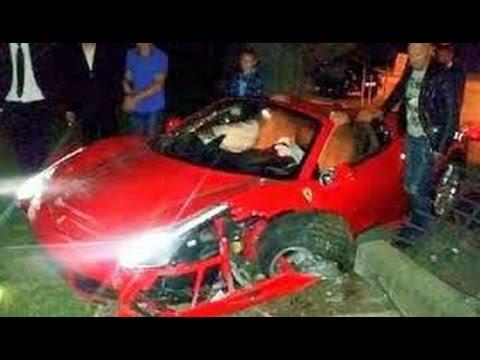 Neymar Crash Ferrari 2 000 000 Youtube