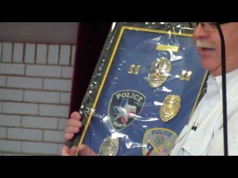 Paris Texas Police Captain Jimmy Steed's Retirement