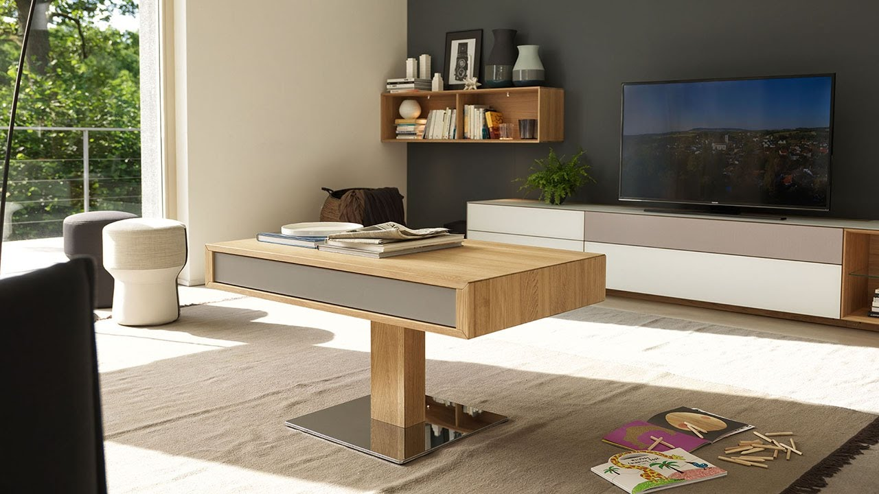 Couchtisch Mit Funktion Team 7 Lift Coffee Table - Youtube