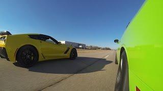 2015 C7 Z06 vs 2015 Challenger Hellcat vs 2014 GT500
