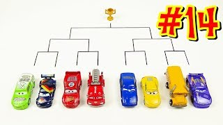 Cars 3 Toys Crazy 8 Demolition Derby Tournament vol 14. Miss Fritter Lightning McQueen Red