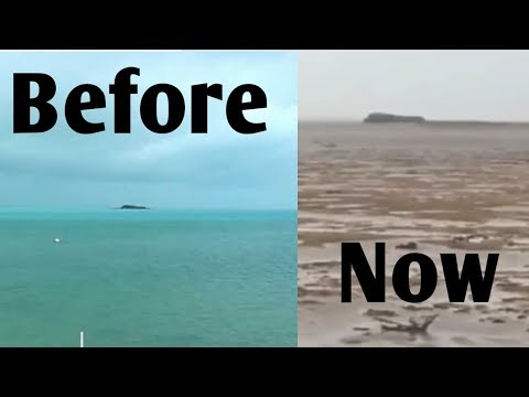 "Bahamas ocean disappeared due to ""IRMA HURRICANE"""