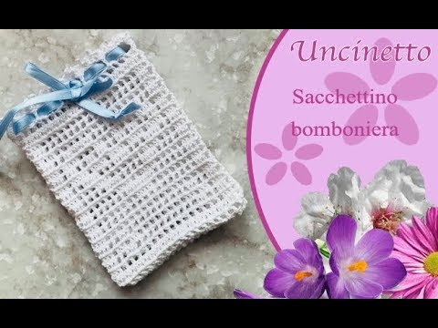 Uncinetto Bomboniera Sacchetto A Filet How To Do Filet Bag Youtube
