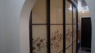 Встроенный шкаф купе прихожая угловой купе распашной стёкла декор(Салон мебели