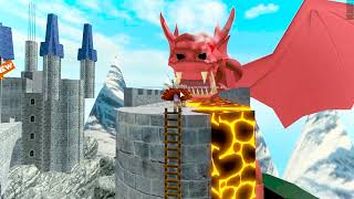 Roblox Escape The Lava Dragon Dungeon - Let's Play Video