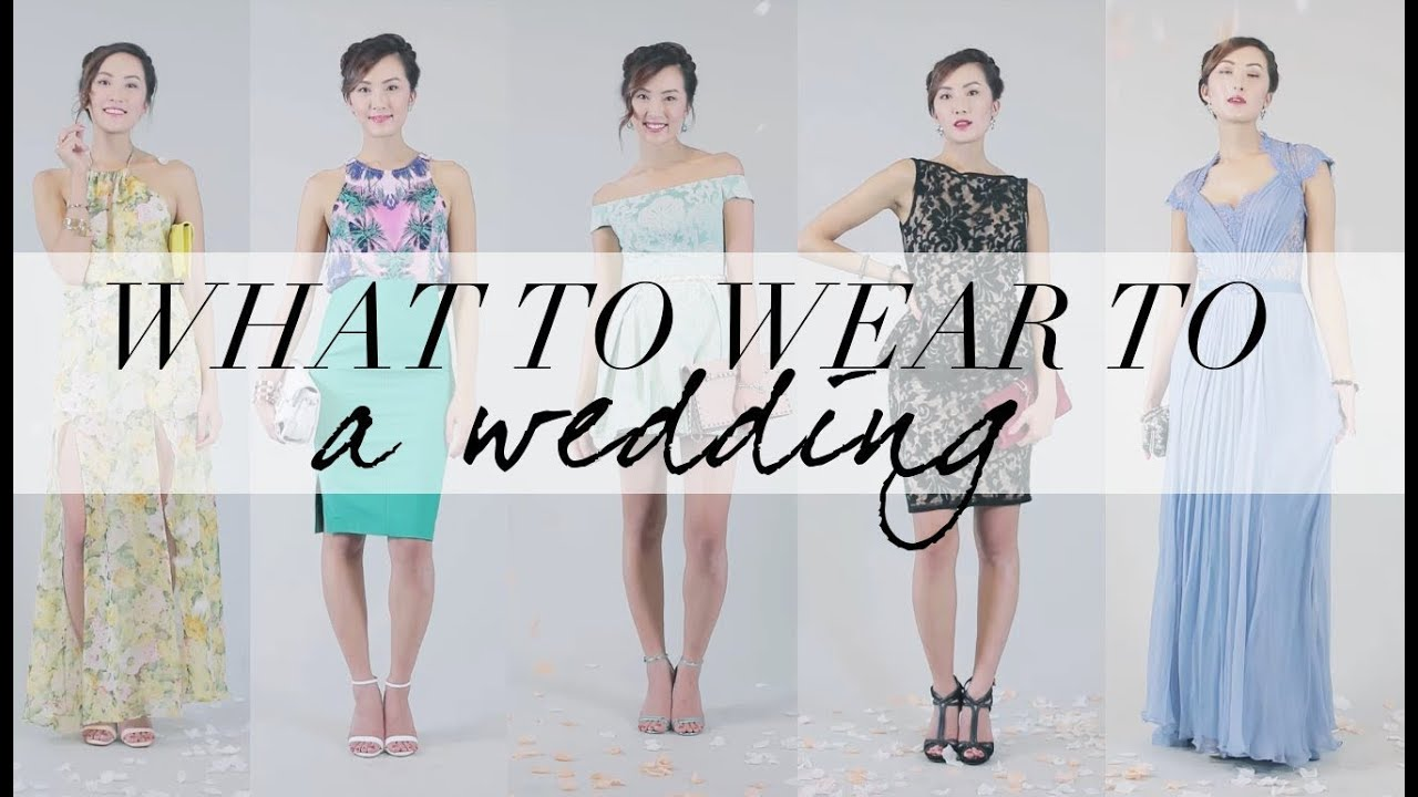What to wear to a wedding youtube