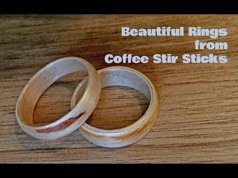 Coffee Stir Stick Rings