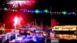 Padstow Christmas festival fireworks 2013