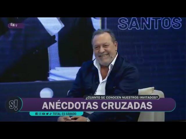 """Bellini y Santos cruzaron anécdotas en """"Total es Sábado"""""""