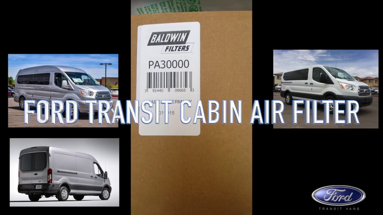 Ford Transit Cabin Air Filter Replacement Youtube