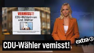 Aktenzeichen X3Y… ungelöst – CDU-Wähler vermisst!