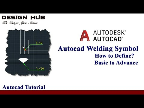 Define Weld Symbol In Autocad Drawing Youtube