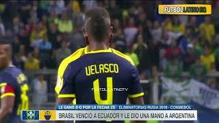 Brasil vs Ecuador 2 0 RESUMEN GOLES HD Eliminatorias Rusia 2018