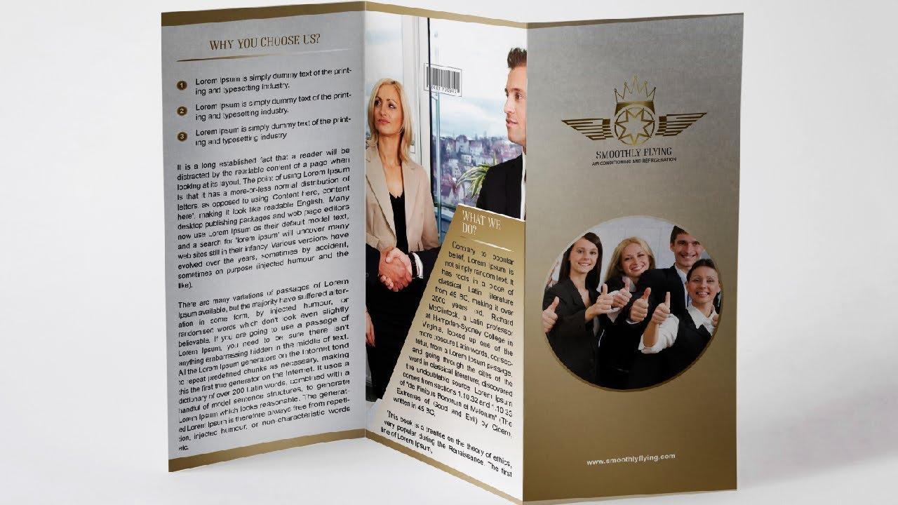 Properly Trifold Brochure Illustrator | Brochure Design Illustrator CS6