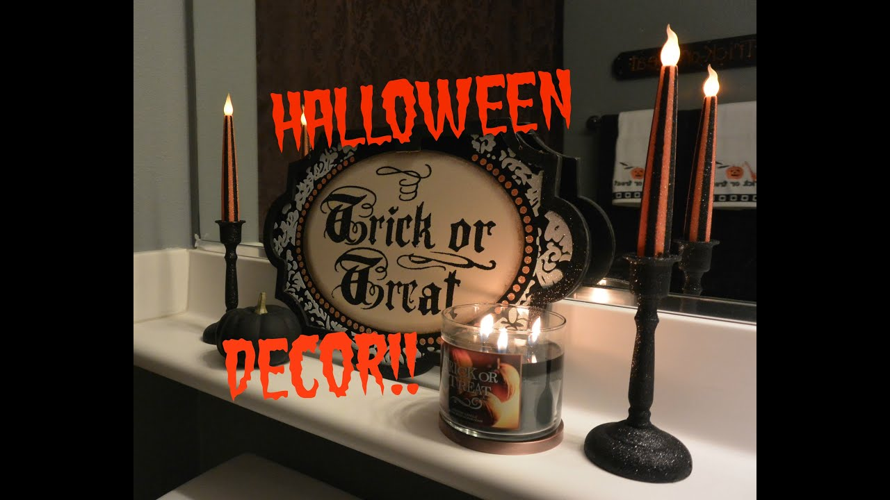2014 Halloween Decor Guest bathroom YouTube