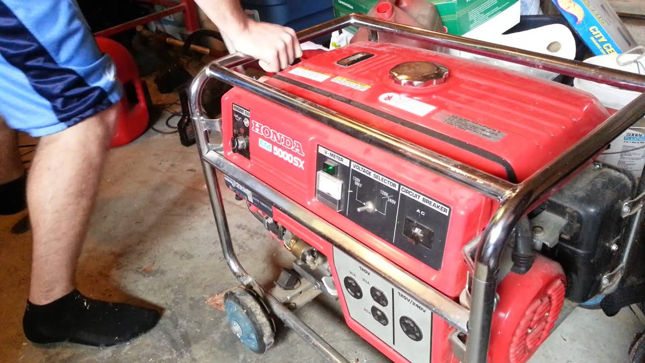 Honda 5000 Watt Generator 5592   YouTube