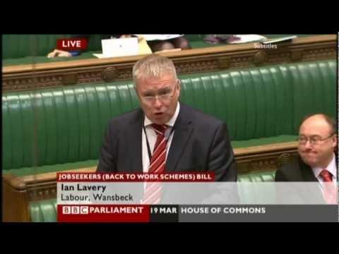 Ian Lavery on #Workfare and retroactive law