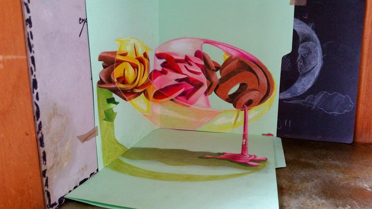 graffiti en 3d 2017 en perspectiva 3d youtube. Black Bedroom Furniture Sets. Home Design Ideas