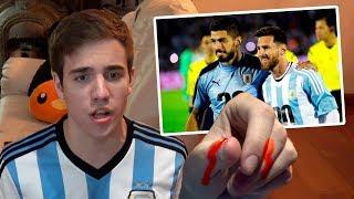 REACCIONES DE UN HINCHA EXTREMO Uruguay vs Argentina 2017 - Rusia 2018