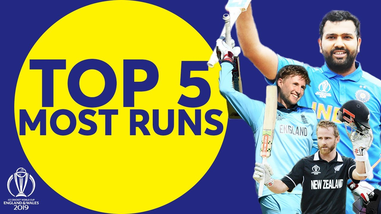 The Most Runs at the 2019 Cricket World Cup? | Top 5 Run-Scorers | ICC Cricket World Cup 2019