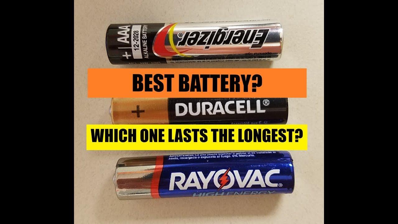 Best Battery That Lasts Longest Rayovac Vs Duracell Vs