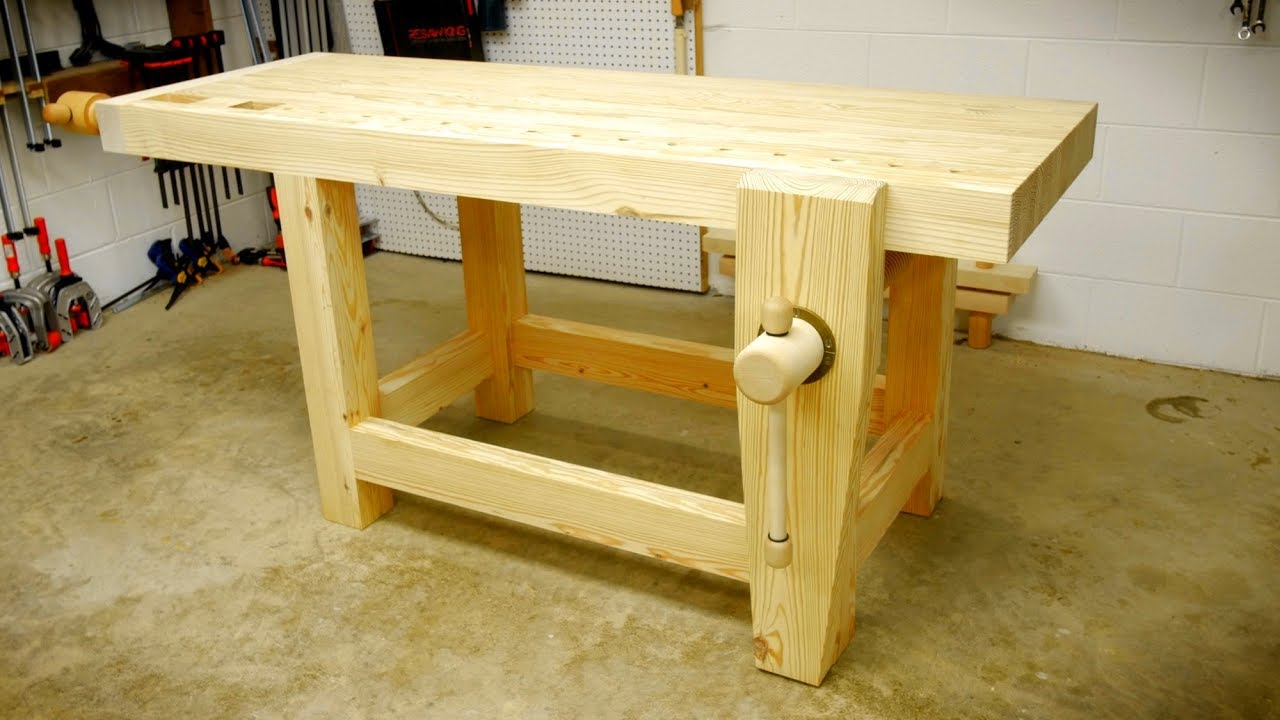 How To Build A Woodworking Workbench Part 1 Youtube