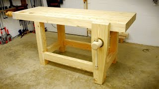 BUY PLANS HERE: https://craftedworkshop.com/portfolio/roubo-style-woodworking-workbench-plans/ In this video, I build my