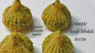 Modak Recipe - Ganpati Special Sooji Modak without Mawa - How to make Modak