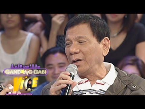 "Mayor Rody Duterte sings ""Ikaw"" on GGV"