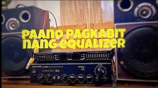 Paano e connect ang equalizer sa amplifier..