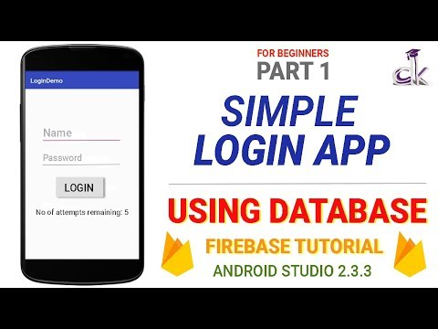Simple Login App Using Database Tutorial - User Registration (PART 1)