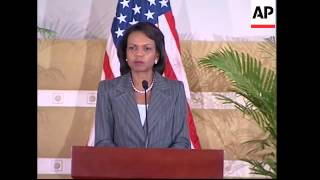 Rice meets Gadhafi, presser with Libyan FM