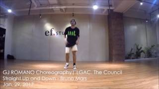 Straight Up and Down - Bruno Mars | LGAC SUNDAYS GJ Romano | ef. Studios Dance Block
