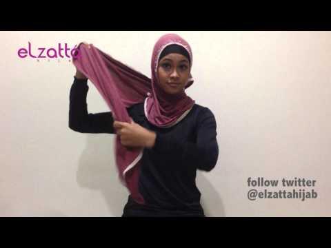 Tutorial hijab elzatta august 2013
