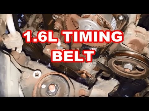 96-11 hyundai 1 6l timing belt quick overview/tips accent kia rio gt 1 6