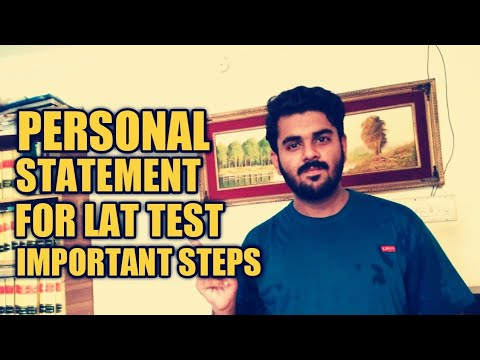 HOW TO WRITE PERSONAL STATEMENT FOR LAT | EASY STEPS | THE LAW CHANNEL