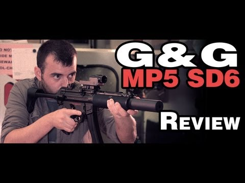 G&G MP5 SD6 Review - PM5 H&K SMG 30m Range Test - Airsoft
