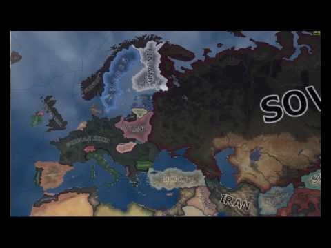 Germany Wins World War 2 : Hearts of iron 4 (Timelapse)