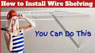 How To Install Rubbermaid Closet Shelving