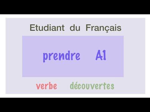 Урок французского языка. Prendre A1