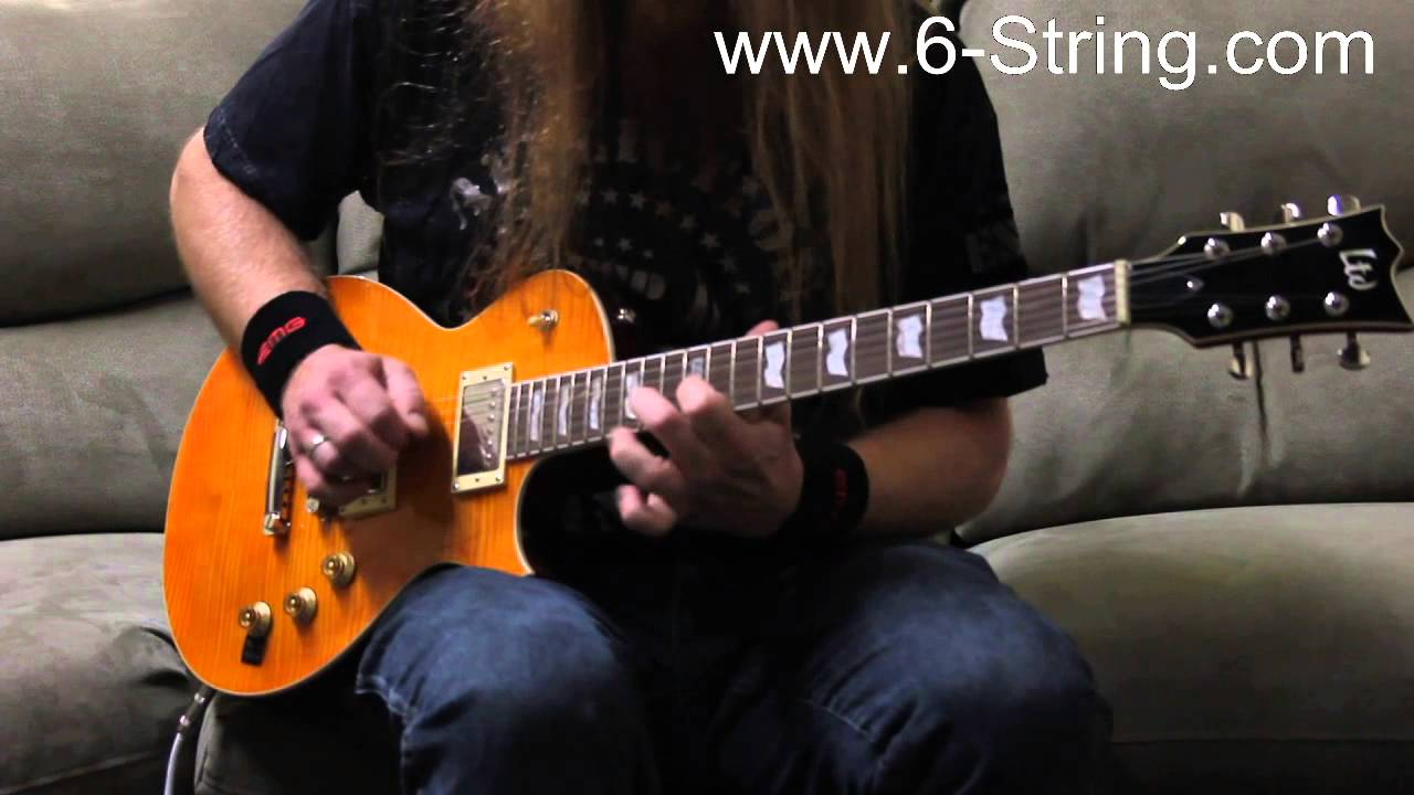 Esp 7 String >> ESP LTD EC-256 Lemon Drop Electric Guitar Demo with Johnny ...