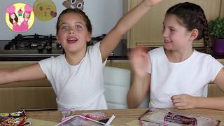 GIANT GUMMY JOKER TONGUE  Charli's crafty kitchen -  gummy vs real April fools food taste test thumbnail