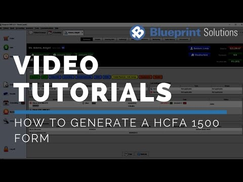 How to Generate a HCFA 1500 Form