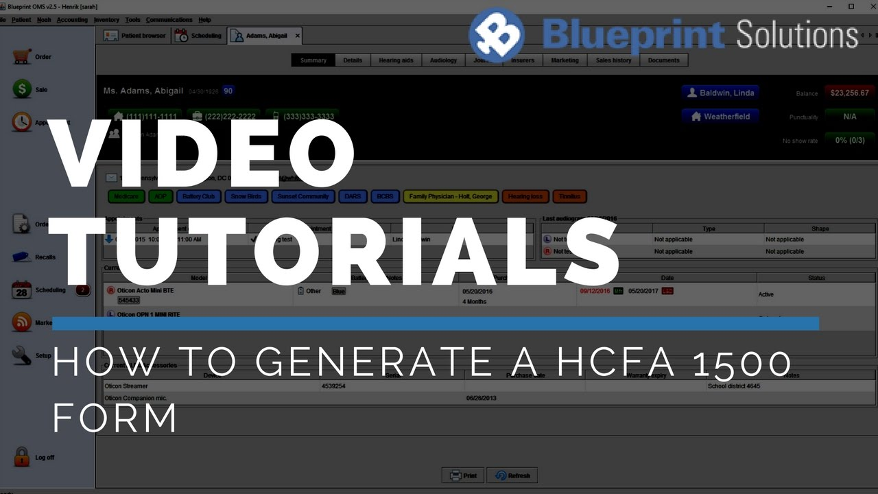 How to Generate a HCFA 1500 Form   YouTube