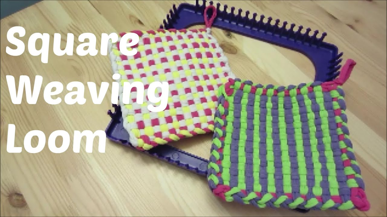 Square Weaving Loom - YouTube