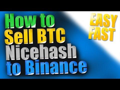 Sell Bitcoin Nicehash To Binance