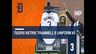 Tigers retire the number of newly inducted Hall of Famerr Alan Trammell