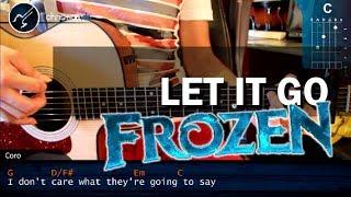 """Cómo tocar """"Let it Go"""" de FROZEN en Guitarra Acústica (HD) Tutorial - Christianvib"""