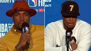 Kyle Lowry & Serge Ibaka Postgame Interview - Game 4 | Raptors vs Warriors | 2019 NBA Finals
